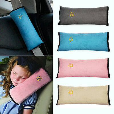 ISASSY Kids Car Seat Belt child Safety Shoulder Pad Pillow Cushion Head Support