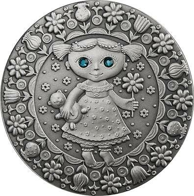 Belarus 2009 20 Roubles Zodiac Signs - Virgo 28.28 g Silver Coin with Zircons