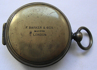 Early 20th century brass compass by F BARKER & SON MAKERS LONDON