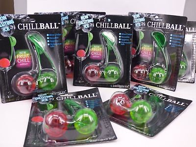 Wholesale job lot of 12 x Packs of Chillball Reusable Wine Coolers with Clips
