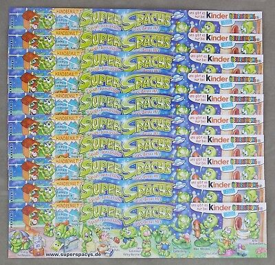 Satz BPZ Super Spacys 2001 10 Stueck Spassinvasion aus dem All Aliens Galaxis