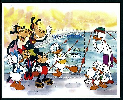 Grenada 1194a MNH Disney characters Olympics Los Angeles1984 Overprint x10718