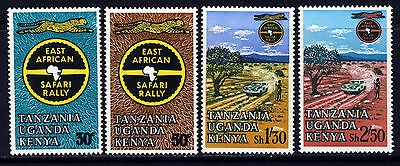 KUT 1965 13th East African Safari Rally Complete Set SG 211 to SG 214 MINT