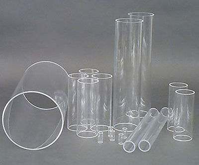 Clear Acrylic Round Tube Perspex Hollow Plastic Pipe Transparent SALE 5mm wall