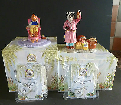 """Royal Doulton """"the Wind In The Willows X2 Figurines New Boxed & Unused"""