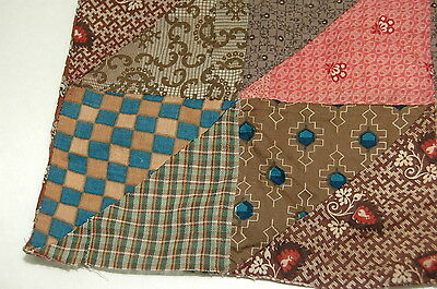 Antique Early c 1830-1860 Quilt Top Piece Fabrics Study B