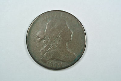 1801 Large One Cent Coin, VG Details- C311