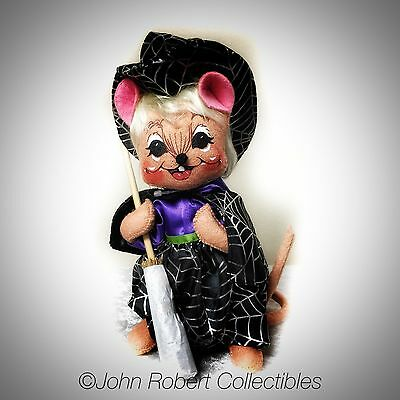 Annalee Dolls Halloween Spider Web Witch Mouse 8 In