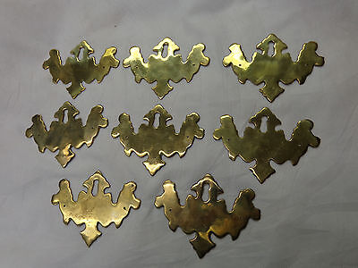 Vtg  8  AABCO Brass Chippendale Escutcheon Keyhole Covers