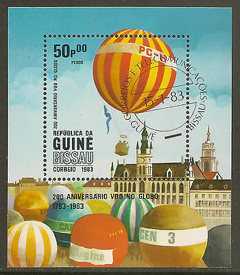 GUINEA-BISSAU 1983 SG MS 734 Gas Balloon Bicentenary of Manned Flight Thematic