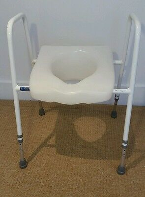 Disability / Mobility Aid - Adjustable Raised Toilet Seat and Frame