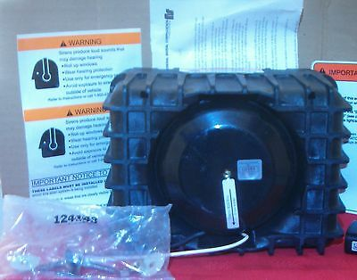 Federal Signal Siren Speaker AS124 Series A High Output EVS3 100W 12V  PN 75050