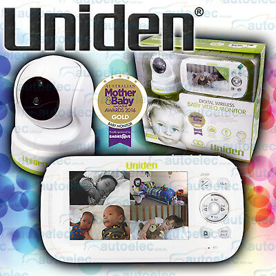 "Uniden Bw3451R Digital Wireless Baby Monitor 4.3"" Zoom Pan Tilt Night Vision New"