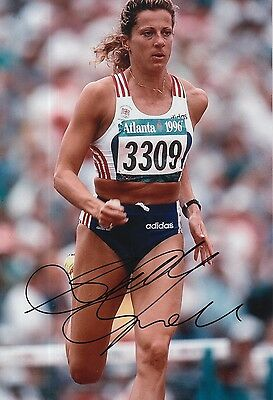 Sally Gunnell Hand Signed 12x8 Olympics 12x8 Photo Great Britain 1.