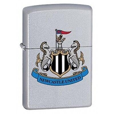 Newcastle United Zippo Lighter - Satin Chrome Fc Official Printed Crest Football
