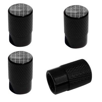 2 Black Billet Knurled - Tire Valve Caps For Motorcycle Wheel - CARBON FIBER GY