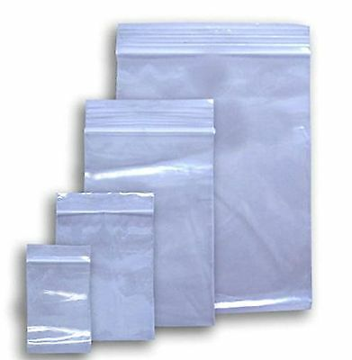 "100 Ziplock 10x12 Large Reclosable Clear Plastic Poly Bags 2Mil 10""x12"" Zip Lock"