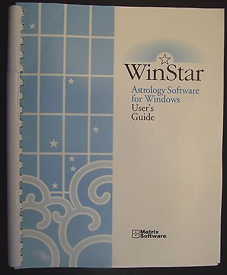 1996 WinStar Astrology Software User's Guide For Windows Manual Matrix Book Only