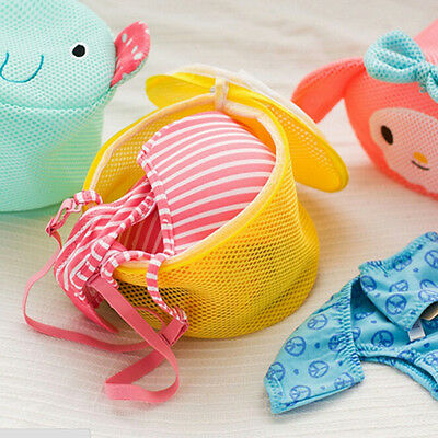 Cartoon Convenient Wash Laundry Bags Home Using Clothes Washing Net Baskets EF