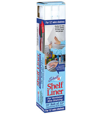 Shelf Liner for Wire Shelving - 10 Foot Roll - 12 Inch