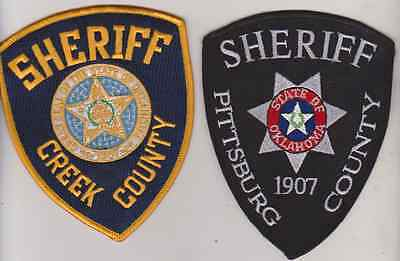 Pittsburgh County & Creek County OK Sheriff patches