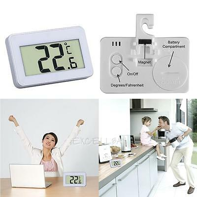 Digital LCD Thermometer Temperature Meter + Magnet Hook for Refrigerator Fridge