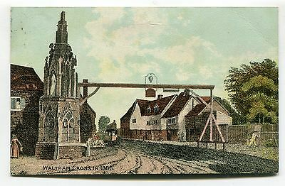 Waltham Cross, Hertfordshire - in 1806 - postcard used in 1909
