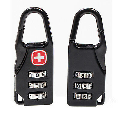 1x New Code Number Lock Padlock for Luggage Zipper Bag Backpack Handbag Suitcase