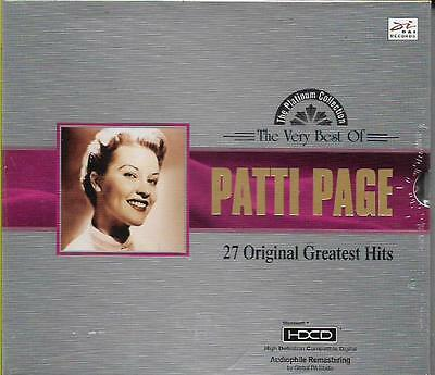 The Very Best of Patti Page 27 Original Greatest Hits CD HDCD NEW
