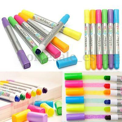 6Pcs 80MM Color Highlighter Fluorescent Gel Solid Paint Pen Drawing Marker New
