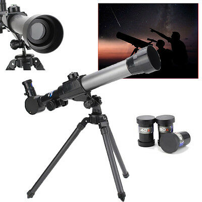 New Performance Children Astronomical Telescope With Stand Back For Kids Gift US
