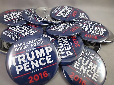 WHOLESALE LOT OF 22 TRUMP PENCE 2016 MAKE AMERICA GREAT AGAIN BLUE BUTTONS pins