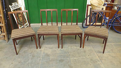 "SET 4 VINTAGE RETRO ""YOUNGER"" AFROMOSIA DINING CHAIRS / Circa 1960-70'S"