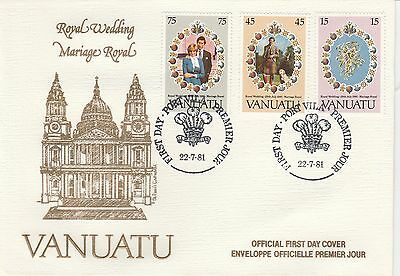1981 VANUATU ROYAL WEDDING First Day Cover Re: A463
