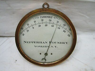 Advertising Thermometer Nepperhan Foundry Yonkers NY Industrial steam punk