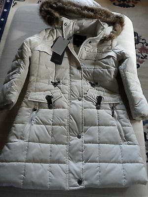 New With Tag Divine Girls Ivory & Fur Puffa Feraud Coat Age 5 - 6 Years Rrp £110