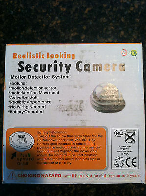 """24 Lot 3.5"""" Dummy Cameras Realistic Look LED Security Camera Light Fake Cam Dome"""