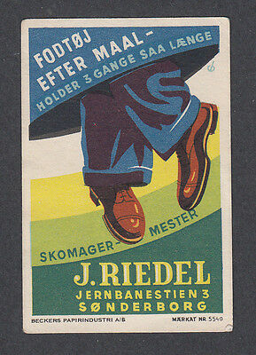 Denmark Poster Stamp  SØNDERBORG FOOTWEAR SHOES