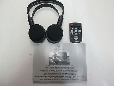 2008 09 10 11 2012 Mercedes Benz Rear Entertainment Headphones/Remote w/owners