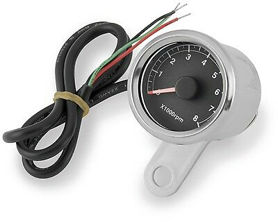 "Bikers Choice 2 "" Diameter LED Mini Tachometer Black Face Motorcycle 169364"