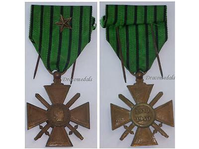 France WW2 Medal War Cross Croix Guerre 1939 1940 star Vichy Decoration French