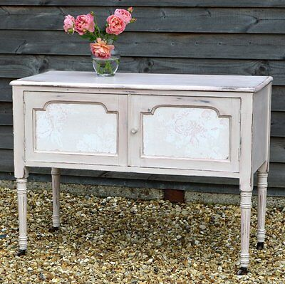 Beautiful Vintage Painted Shabby Chic Washstand / Dresser ~ Country Cottage Chic