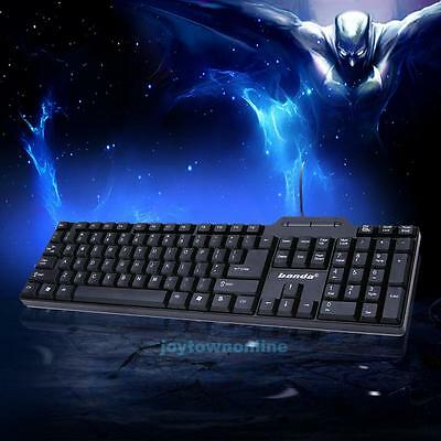 Multimedia Silent USB Wired Gaming Keyboard For Gamer PC Laptop Computer New