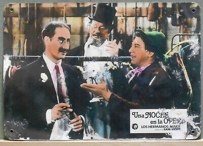 XD32D A NIGHT AT THE OPERA MARX BROTHERS GROUCHO rare Lobby Card Spain B