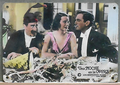 XD30D A NIGHT AT THE OPERA MARX BROTHERS GROUCHO rare Lobby Card Spain C