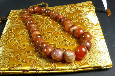 OLD CARNELIAN Spiritual Bead Necklace + SEEING EYE BEAD +Sourced in Dharamshala