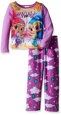 Shimmer & Shine Girls Pajama Top 2pc Pajama Pant Set Size 4 6 8 10