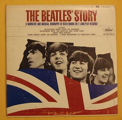 The Beatles Canada LP ST-2222 The Beatles' Story Rare red target label 2-LP