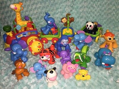 Fisher-Price Amazing Animals Sing & Go Choo Choo Train HUGE LOT OF Friends GREAT