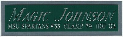 MAGIC JOHNSON MSU NAMEPLATE FOR AUTOGRAPHED Signed JERSEY-BASKETBALL-PHOTO-FLOOR